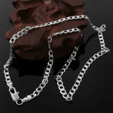 Cool 4mm Sterling silver filled Curb Chain 60cm long