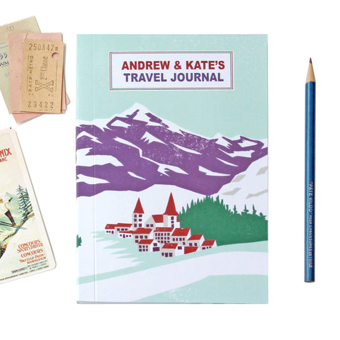 Personalised Alpine Travel Journal