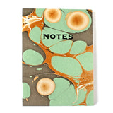 Hand Marbled Note Book in Aqua - Sukie