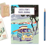 Personalised Beach Camper Travel Journal With Yellow Camper Van - Sukie