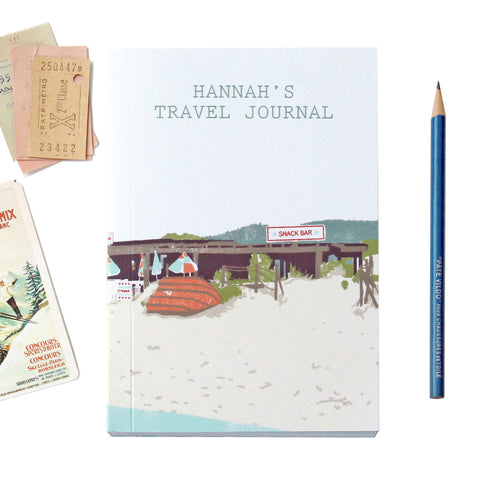 Personalised Beach Shack Travel Journal