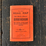 Early 20th Century Road Map Of Birmingham