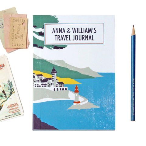 Personalised Lighthouse Travel Journal