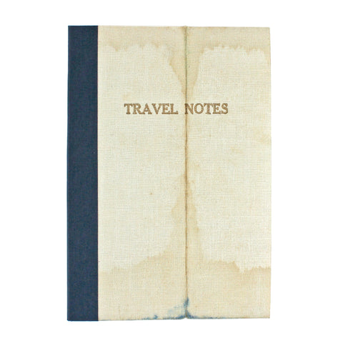 Linen Map Travel Notes with Blue Binding