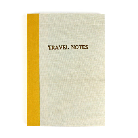 Linen Map Travel Notes with Mustard Binding