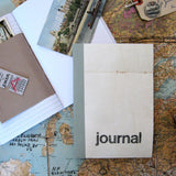 Linen Map Journal With Grey Binding - Sukie