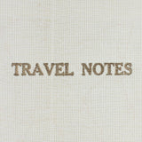Linen Map Travel Notes with Blue Binding - Sukie