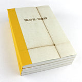 Linen Map Travel Notes with Mustard Binding - Sukie