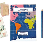 World Map Travel Journal With Dark Blue Cover