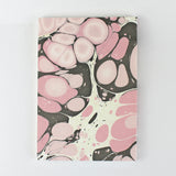 Hand Marbled Note Book in Pink & Brown - Sukie