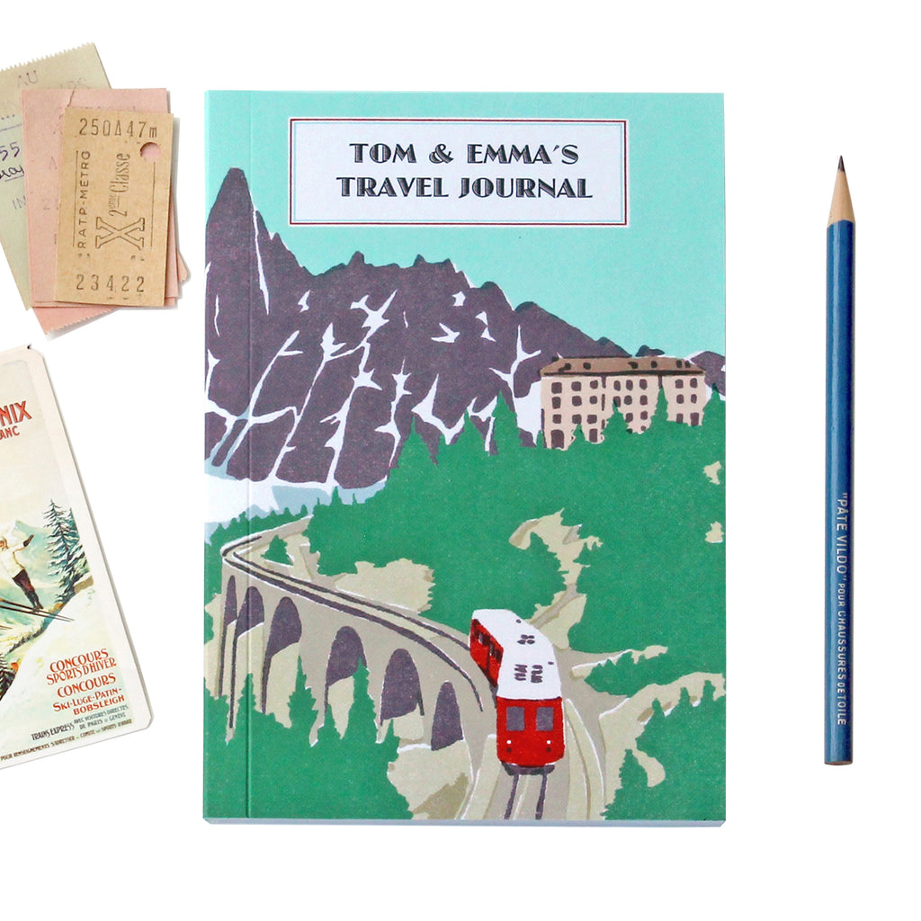 Personalised Mountain Rail Travel Journal - Sukie