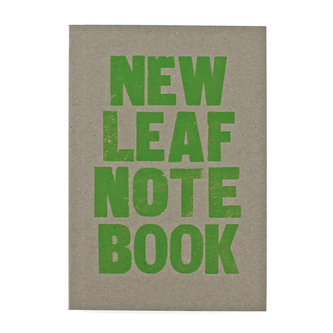 LETTERPRESS New Leaf Notebook