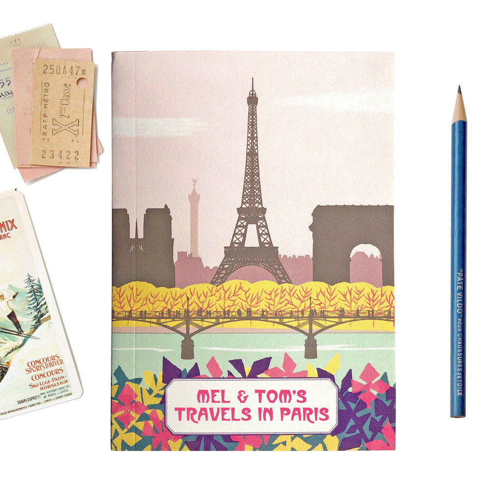 Personalised Paris Travel Journal - Sukie