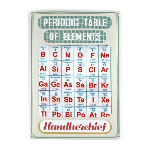 Periodic Table Handkerchief
