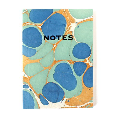 Hand Marbled Note Book in Royal Blue