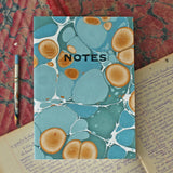 Hand Marbled Note Book in Sea Green - Sukie