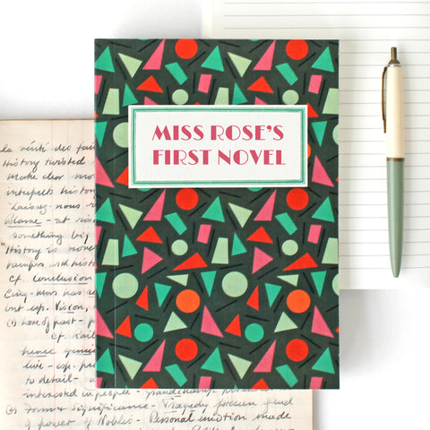 'My First Novel' Notebook with shapes design