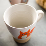 Ceramic Fox Mug - Mrs Fox Paws - Sukie