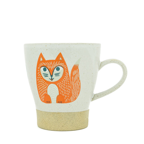 Ceramic Fox Mug - Mrs Fox Paws