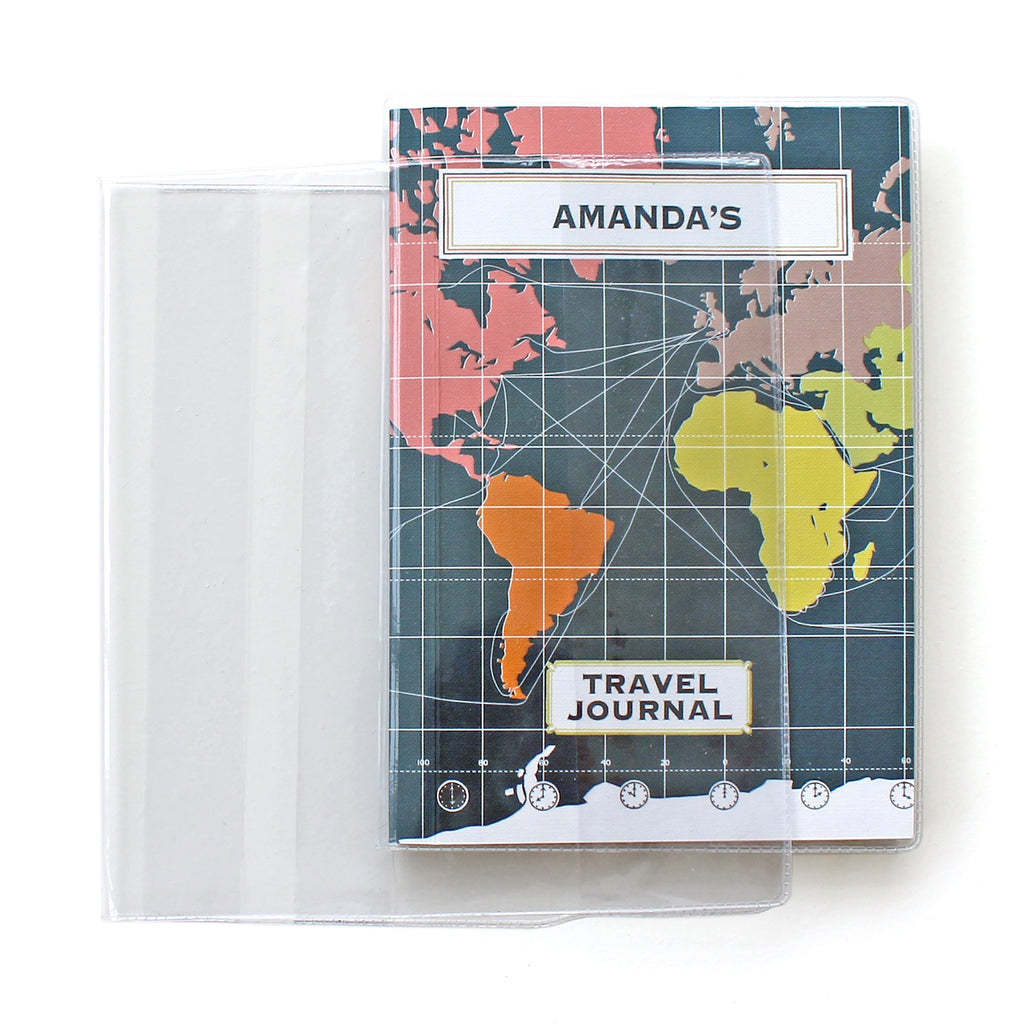 Plastic Book Cover - to fit travel journals - Sukie