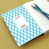 World Map Travel Journal With Light Blue Cover - Sukie