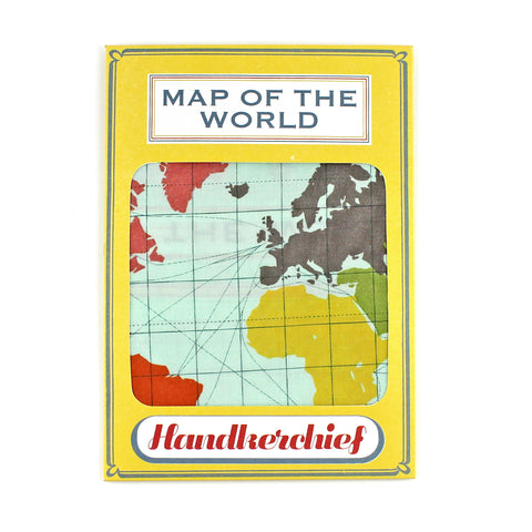 World Map Handkerchief