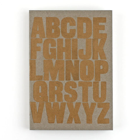 LETTERPRESS A to Z Notebook
