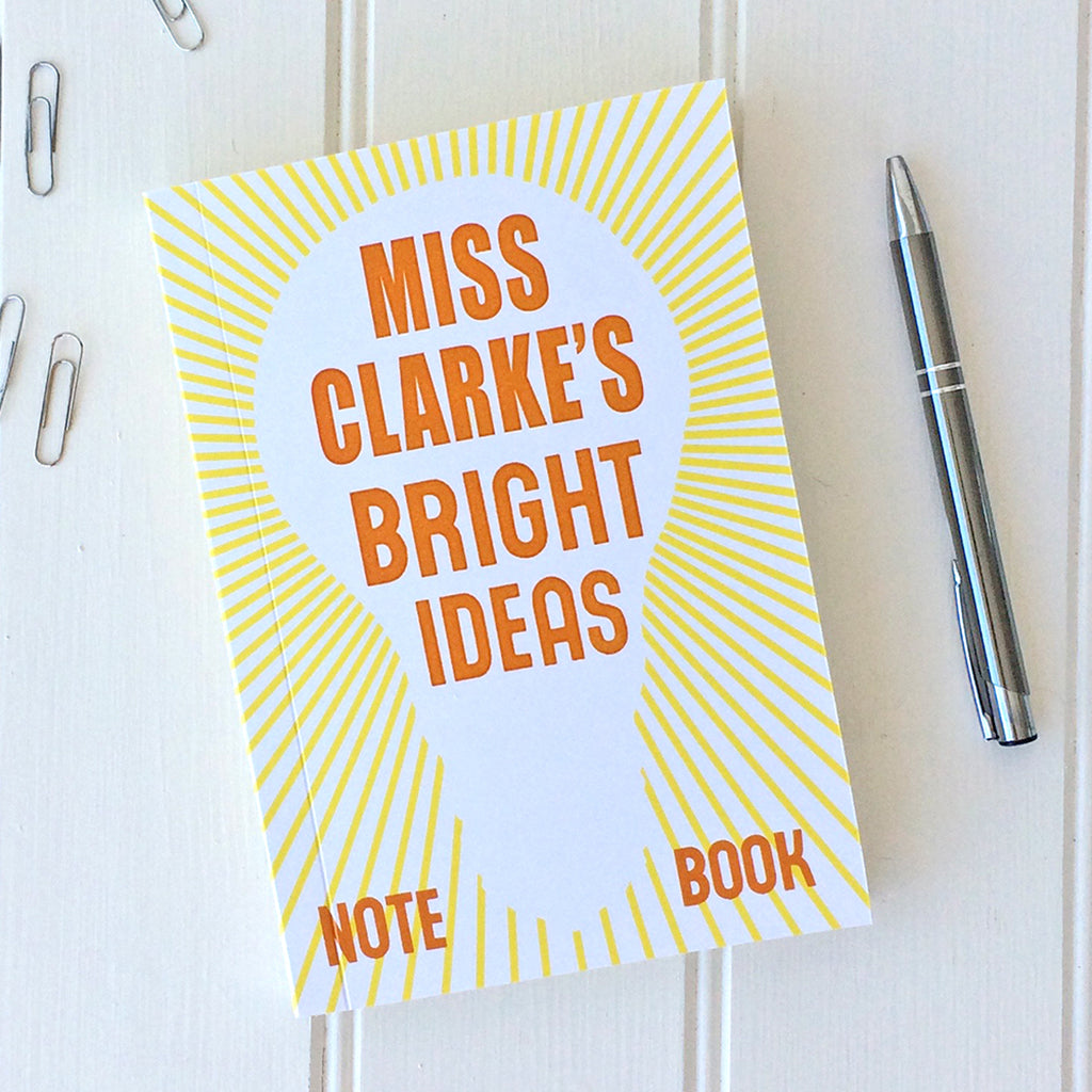 Personalised Bright Ideas Notebook - Sukie