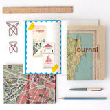Map Journal with Gold Type - Sukie