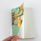 Hand Marbled Journal in Aqua - Sukie