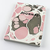 Hand Marbled Journal in Pink - Sukie