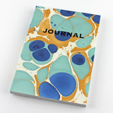 Hand Marbled Journal in Royal Blue - Sukie