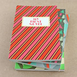 'My First Novel' Notebook with striped design - Sukie