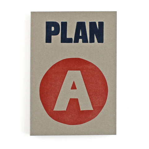 Plan A LETTERPRESS Notebook