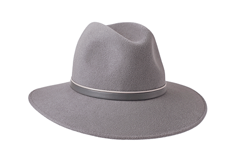 Dove Grey Fedora Hat