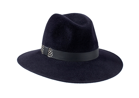 Midnight Blue Fedora Hat