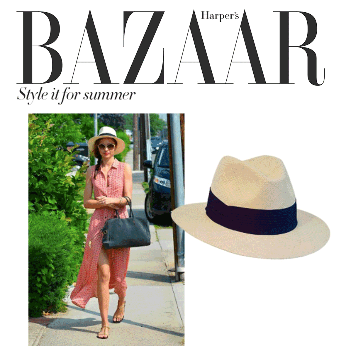 HOW TO WEAR A PANAMA HAT: HARPERS BAZAAR (MAY 2016)