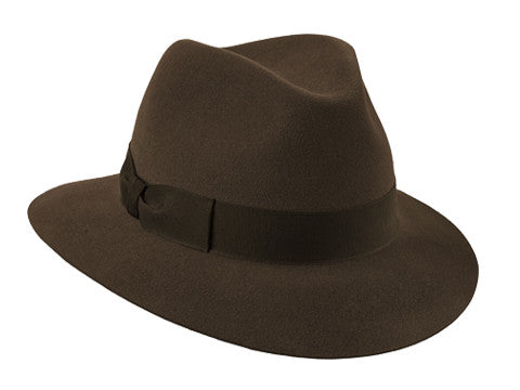 Siena Fedora Brown/ Brown Grosgrain Ribbon
