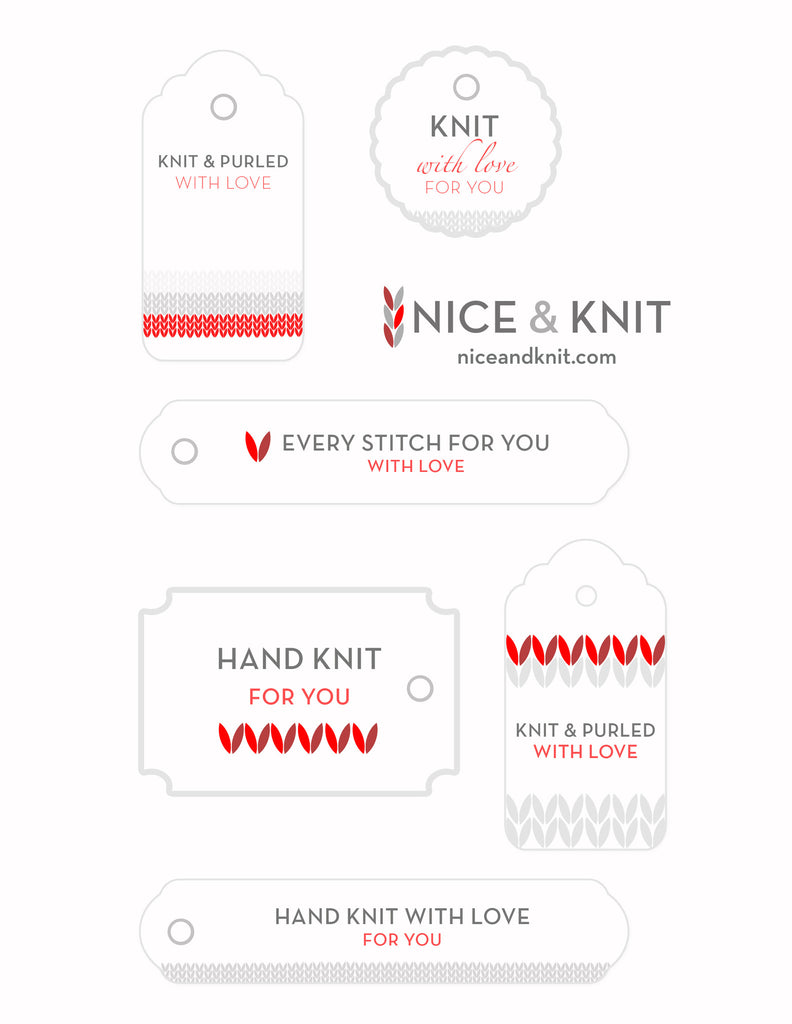 Nice & Knit Holiday Tags