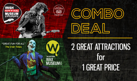 Wax Museum Plus/Irish Rock N' Roll Museum Combo Ticket (Family)