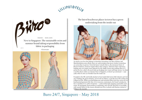 Lilliput & Felix sustainable swimwear and beachwear featured in Singapore Buro 247 with new stockists Edit Lifestyle and Colony Clothing