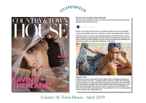 Lilliput & Felix sustainable swimwear brand featured in Country & Town House magazine April 2019