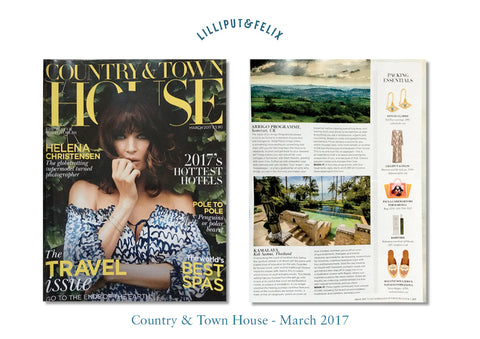 Lilliput & Felix long luxury silk kaftan in maroon marble featured in Country & Town House magazine