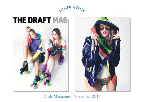 Lilliput & Felix sustainable swimwear featured in the Draft Magazine