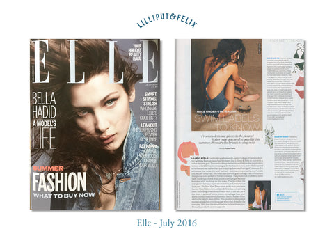 Lilliput & Felix luxury feminine swimwear in Elle Magazine