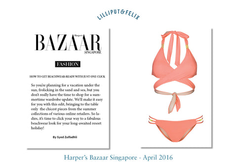 Lilliput & Felix featured in Harper's Bazaar Luxury Swimwear Beachwear