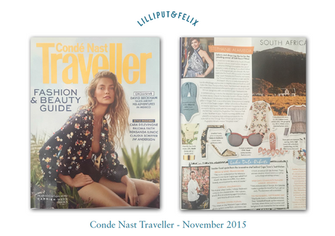 Lilliput & Felix in Conde Nast Traveller- November 2015