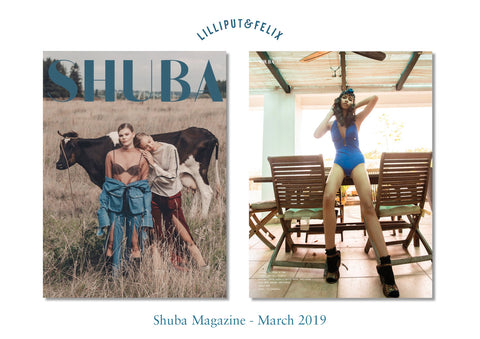 Lilliput & Felix Swimwear in the Press - Shuba Magazine - March 2019