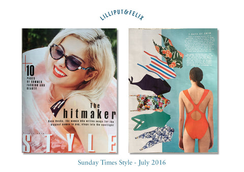 Lilliput & Felix featured in Sunday Times Style Magazine- July 2016