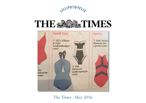 Lilliput & Felix swimsuit featured in the Times- May 2016